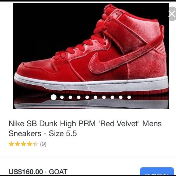 the latest d286b 20ec0 Nike SB Dunk High PRM 'Red Velvet' women Sneakers